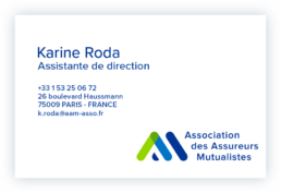 Carte visite Karine Roda