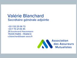Carte visite Valérie Blanchard