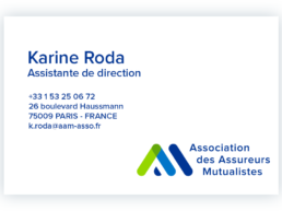 Carte de visite karine Roda -assistante de direction - AAM