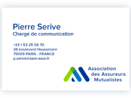 carte de visite Pierre Serive - chargé de communication - AAM